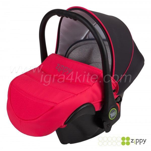 Zippy - Natural кошница за кола розова 0-13kg