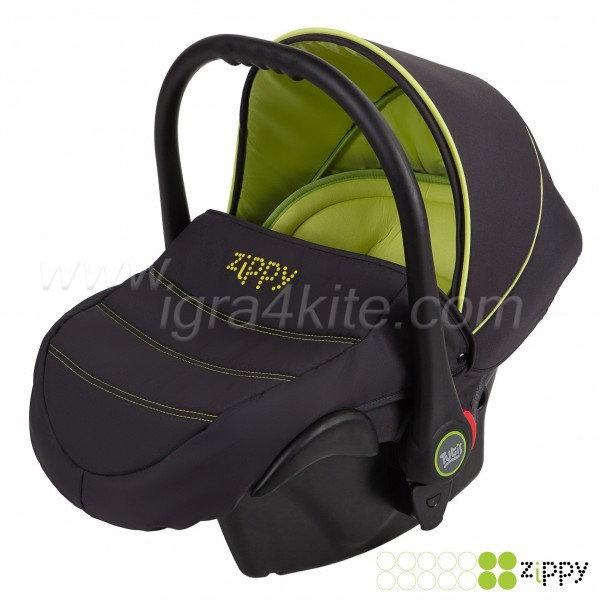 Zippy - Natural кошница за кола черно и зелено 0-13kg