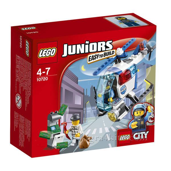 Lego 10720 Juniors City - Преследване с полицейски хеликоптер