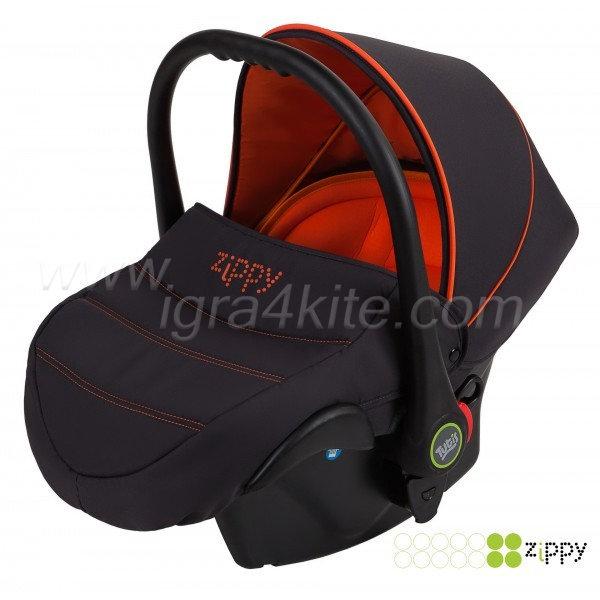 Zippy - Natural кошница за кола черно и оранжево 0-13kg