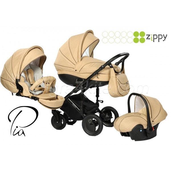 Zippy - PIA бебешка количка 3в1 бежова