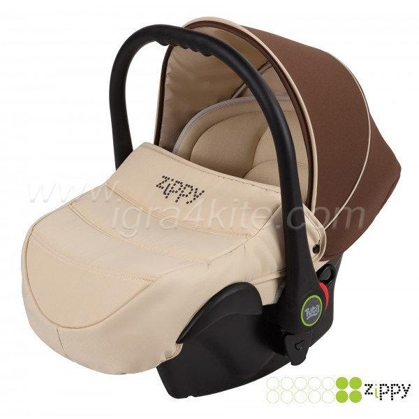 Zippy - Natural кошница за кола кафява 0-13kg