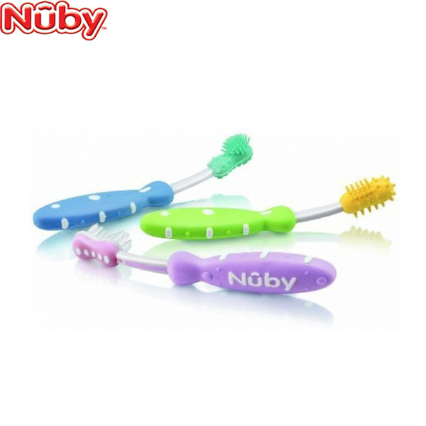 Nuby - Четки за зъби 3 бр.