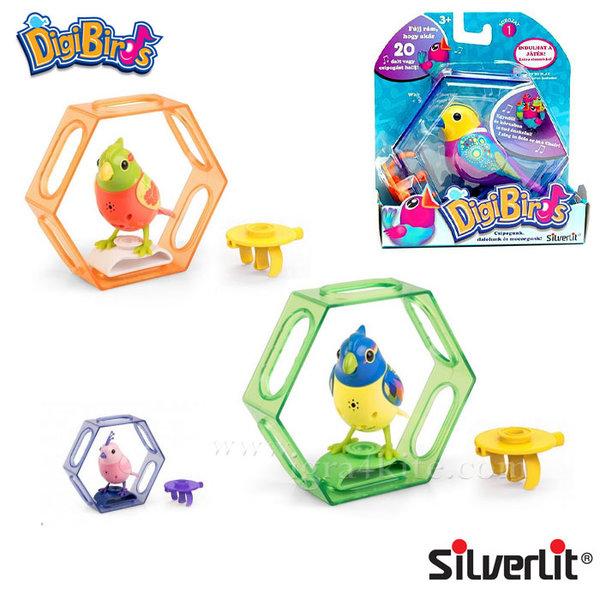 Silverlit - DigiBirds Дигитална пееща птичка на стойка 88324