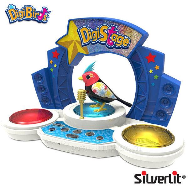 Silverlit - DigiBirds Дигитална пееща птичка с музикална сцена 88268