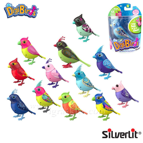 Silverlit - DigiBirds Дигитална пееща птичка 88286