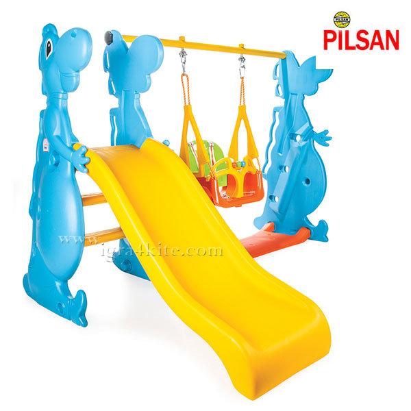 Pilsan - Детска пързалка с люлка Dino 06099