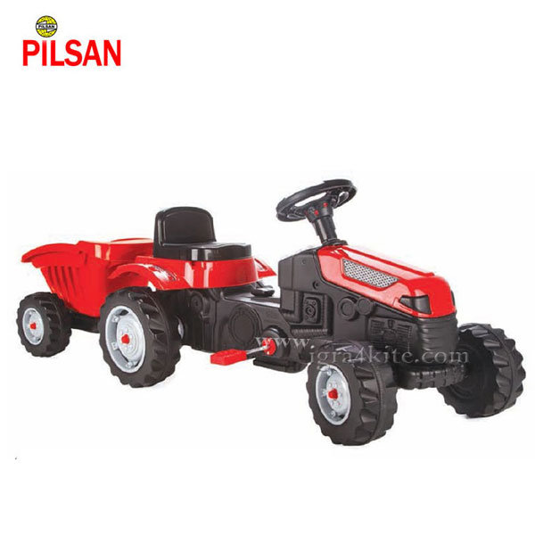 Pilsan - Детски трактор с педали и ремарке Active 07316