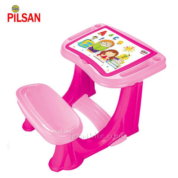 Pilsan - Детски чин с пейка Розов 03433