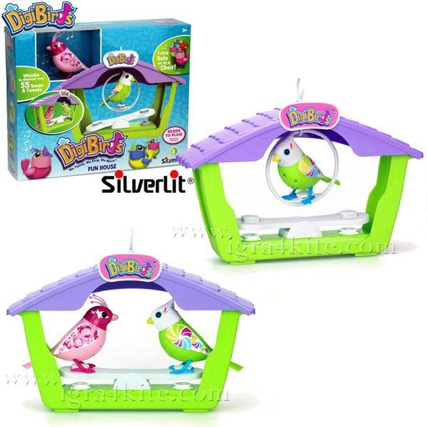 Silverlit - Дигитална пееща птичка в къща Digi Birds 373016