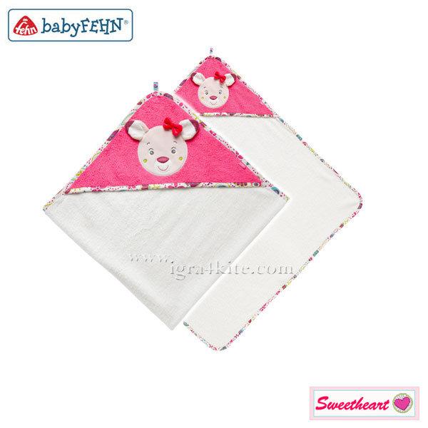 Baby Fehn - Бебешка хавлия с качулка Сърничка 076851