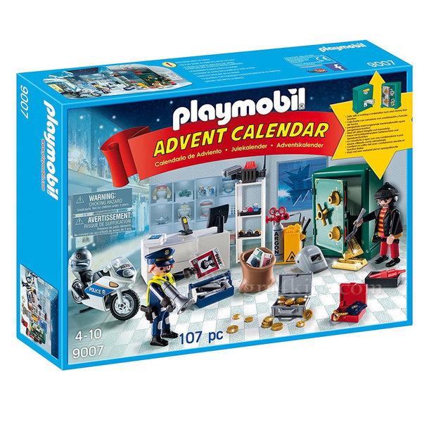 Playmobil - Коледен календар Полицейска акция в магазин за бижута 9007
