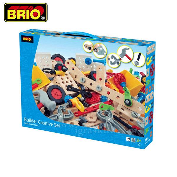 Brio - Дървен конструктор 270 части 34589