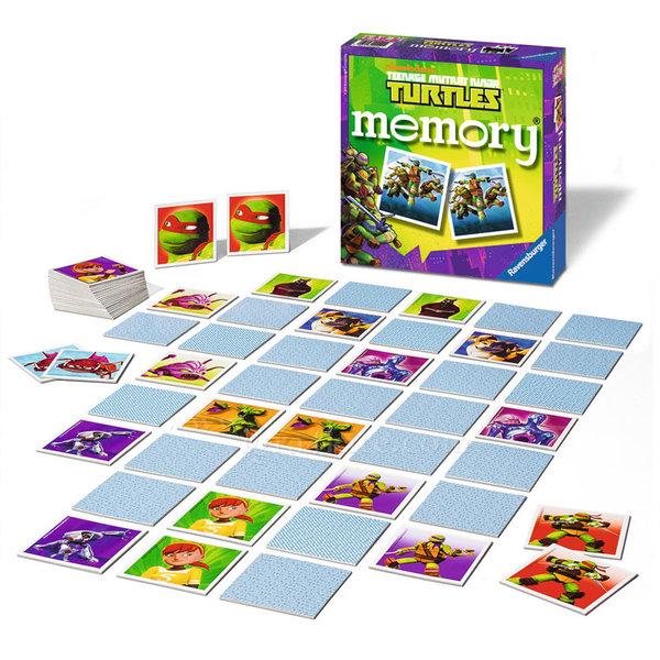 Ravensburger - Детска игра Мемори Костенурките нинджа 708005