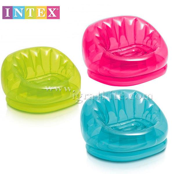 Intex - Надуваемо цветно кресло 68594