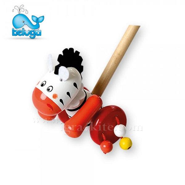 Beluga - Дървена играчка за бутане Зебра 801143