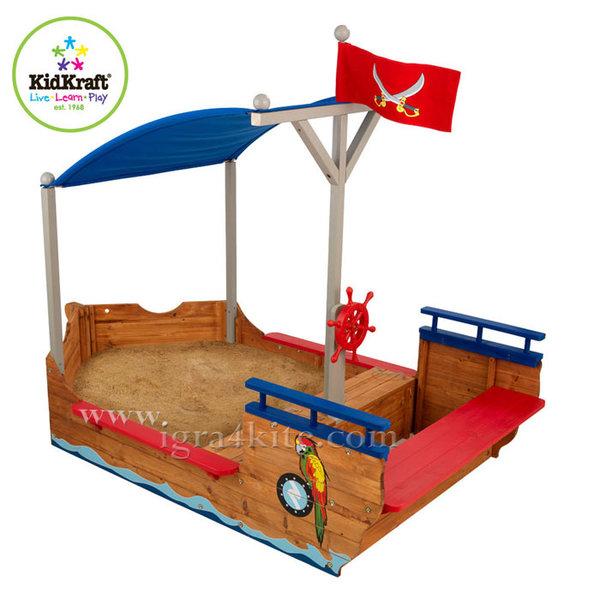 Kidkraft - Детски дървен пясъчник Пиратски кораб 00128