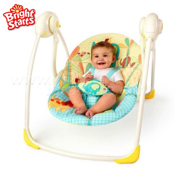 Bright Starts - Люлка шезлонг за бебе Слънчево САФАРИ 7117