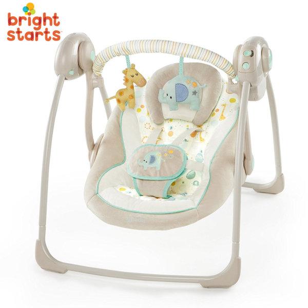 Bright Starts - Бебешка люлка шезлонг Comfort & Harmony Gentle Jungle 60379