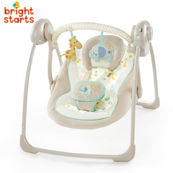 Bright Starts - Бебешка люлка шезлонг Comfort & Harmony Gentle Jungle 60379
