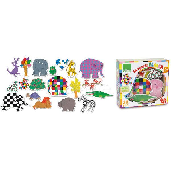 Vilac - Дървени магнити слончето Elmer 5923