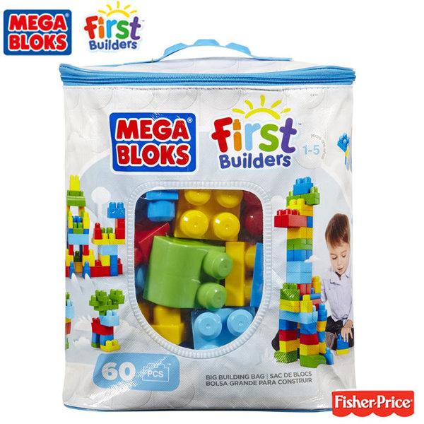 Fisher Price Mega Bloks - Моят първи строител в чантичка син DCH55