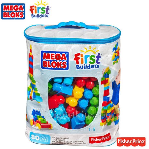 Fisher Price Mega Bloks - Моят първи строител 80 части DCH63