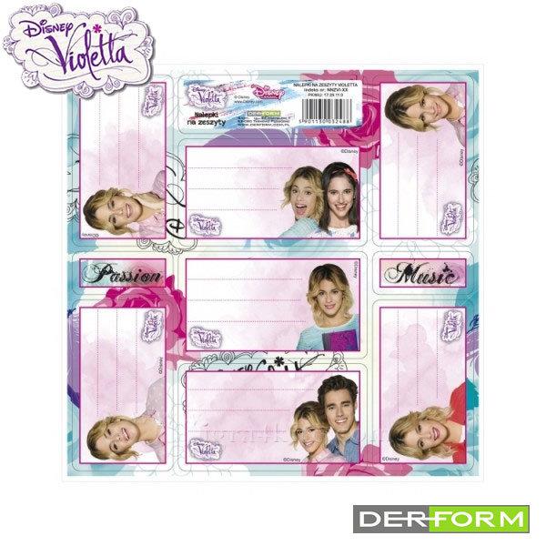 Disney Violetta - Ученически етикети Виолета 32488