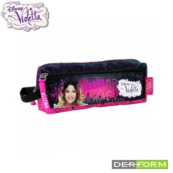 Disney Violetta - Ученически несесер с 2 ципа Виолета 33508