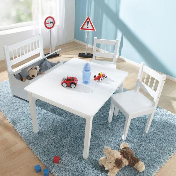 My Baby - Детска дървена маса с 2 столчета и пейка с ракла 115772