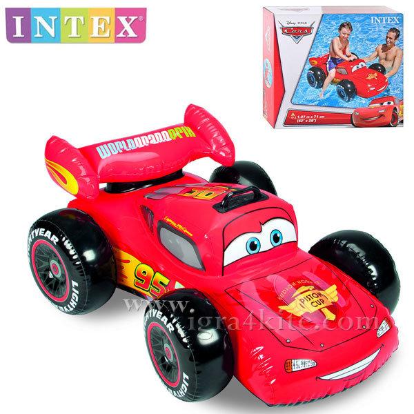 Intex - Детска надувама кола Disney Cars 58576