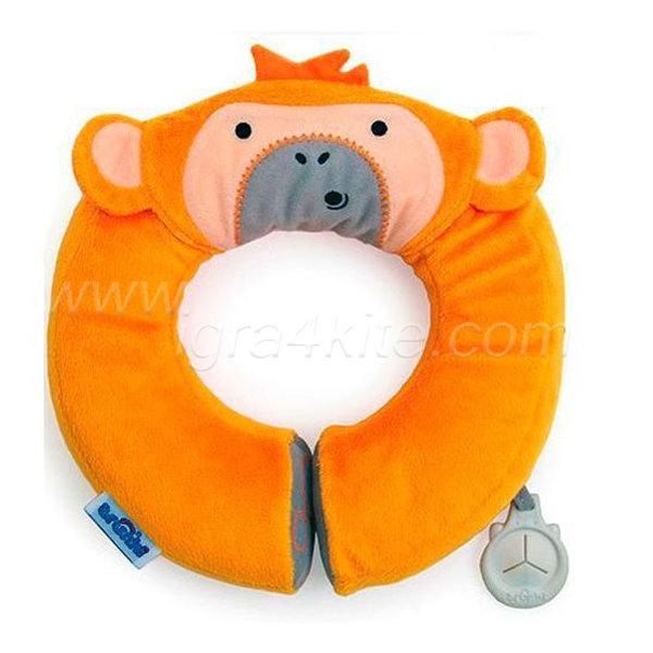 Trunki - Мека възглавничка за път Маймуна (оранжева)