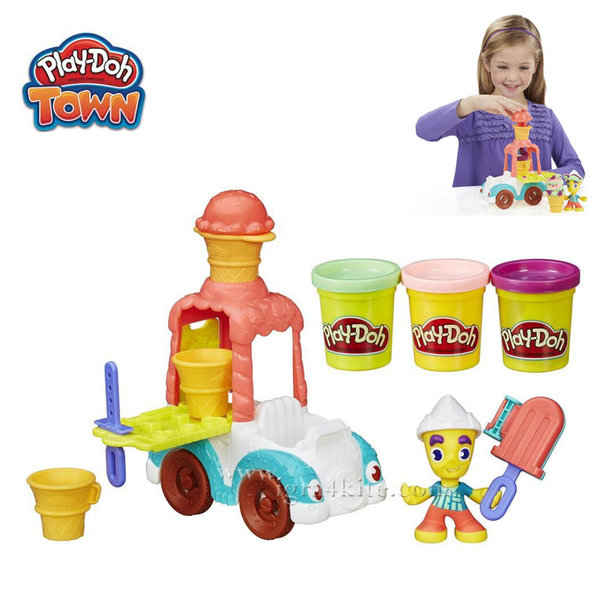 PlayDoh Town - Забавен комплект Град Камион за сладолед b3417