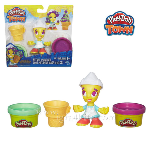 PlayDoh Town - Забавен комплект Град Момиче със сладолед b5960
