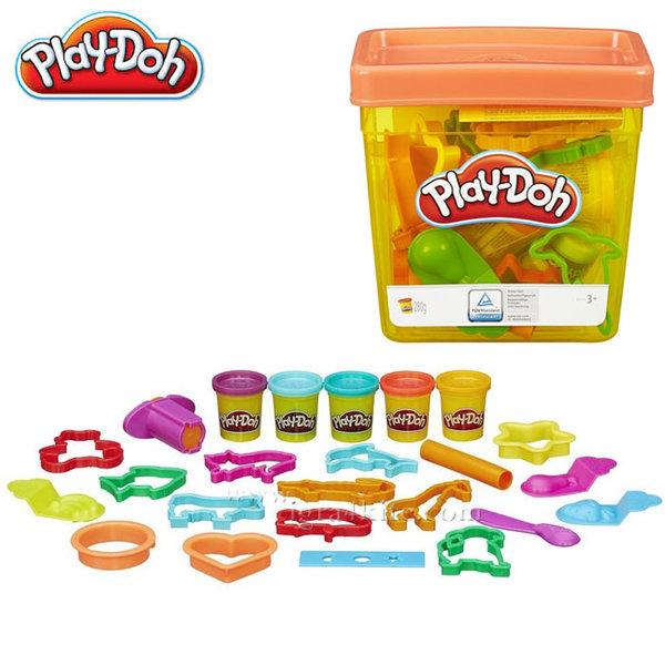 PlayDoh - Забавен комплект с формички в кофа b1157