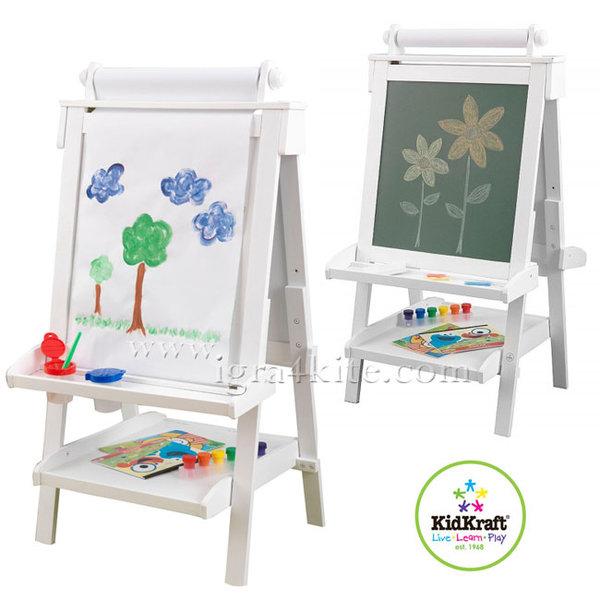 Kidkraft - Дървена двустранна дъска за рисуване Deluxe 62040