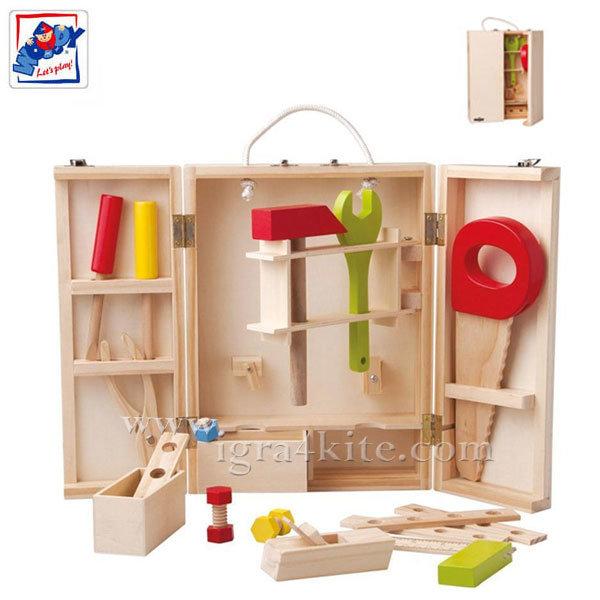Woody - Инструменти в дървена кутия 91188