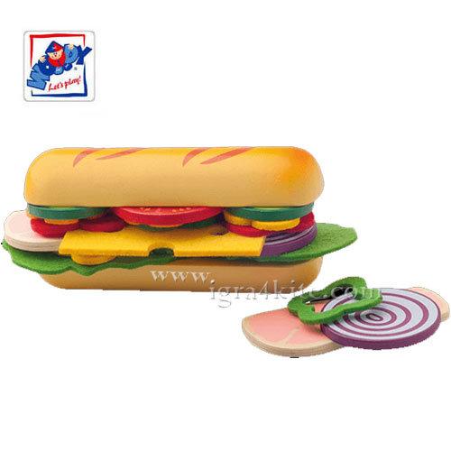 Woody - Направи си сандвич с багета от дърво 91172
