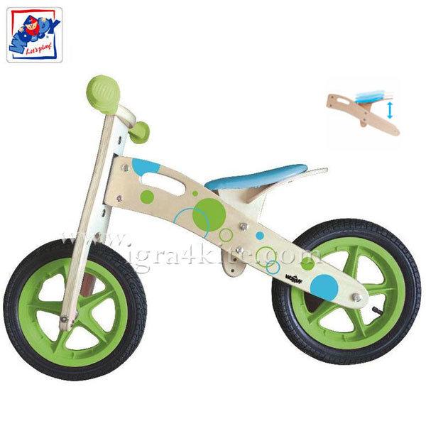 Woody - Детско дървено балансиращо колело 91189