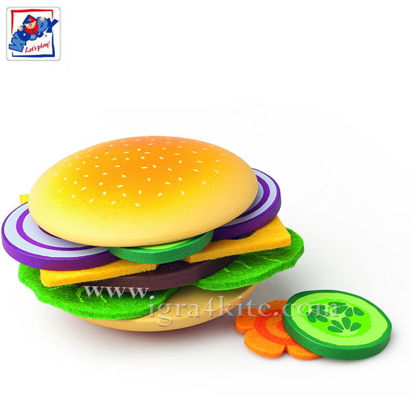 Woody - Направи си сам дървен хамбургер 91173