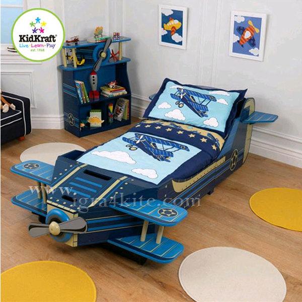 Kidkraft - Детско дървено легло Самолет 76277