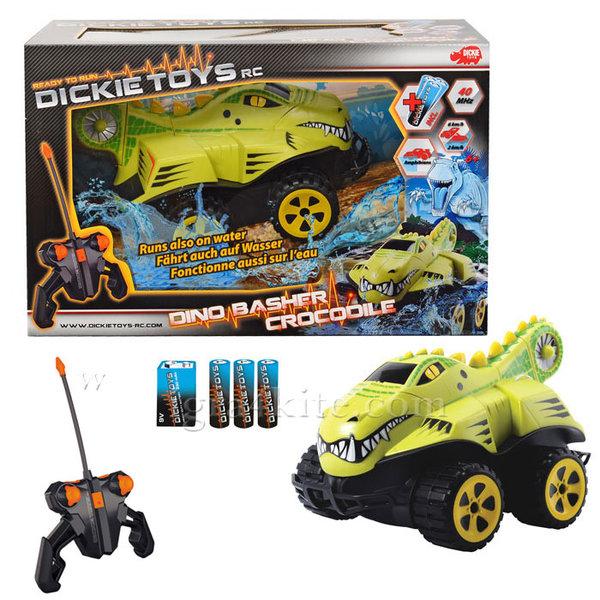 Simba Dickie - Кола амфибия с дистанционно Dino Basher Crocodile 201119088