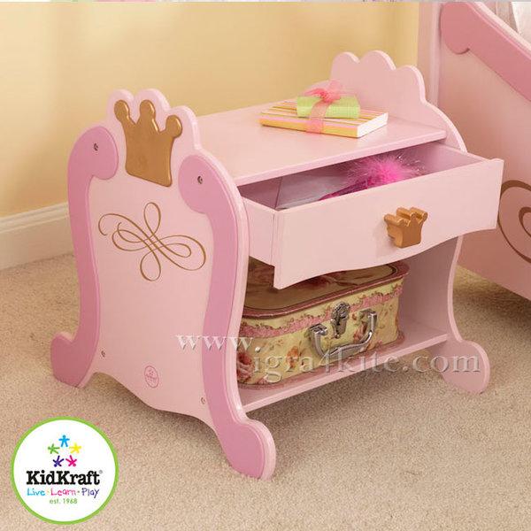 Kidkraft - Детско дървено нощно шкафче Принцеси 76124