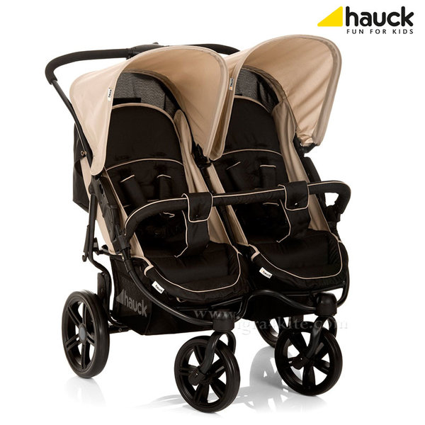 Hauck - Количка за близнаци Roadster Duo SLX Caviar/Almond 512166