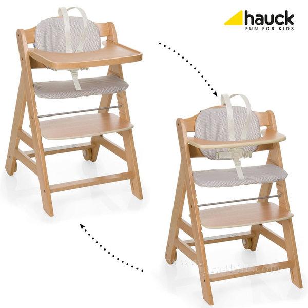 Hauck - Дървен стол за хранене Beta Plus Natur 663110
