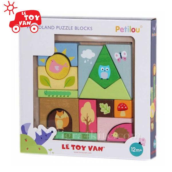 Le Toy Van - Дървени кубчета Woodland pl002