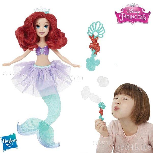 Disney Princess Bubble Tiara - Кукла Ариел със сапунени мехури B5302