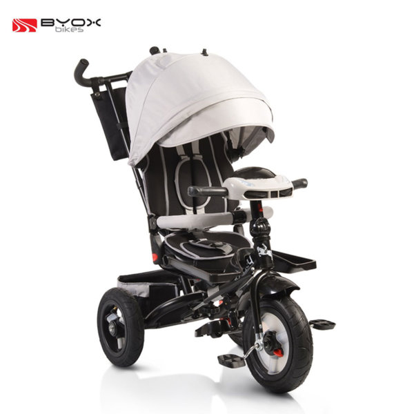 Byox Bikes - Детска триколка Jockey с музикално табло grey 106033