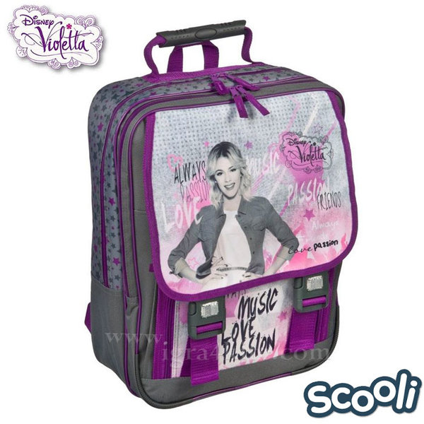Scooli Disney Violetta - Ученическа ергономична раница Виолета 25664
