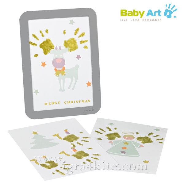Baby Art - Рамка за отпечатък с боички за Коледа 00049